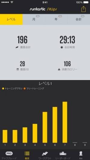 iPhone、iPadアプリ「Runtastic 腹筋回数カウント」のスクリーンショット 1枚目