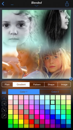 iPhone、iPadアプリ「InstaFrame+ - All In One Collage Maker」のスクリーンショット 3枚目