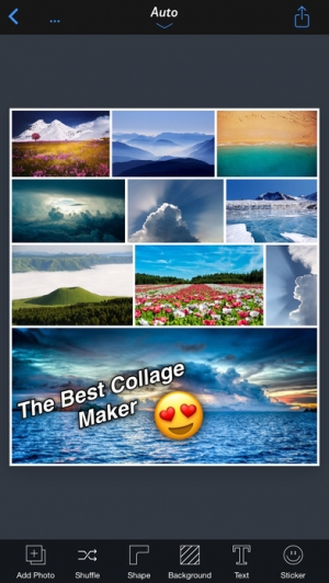 iPhone、iPadアプリ「InstaFrame+ - All In One Collage Maker」のスクリーンショット 1枚目