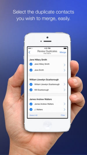 iPhone、iPadアプリ「CleanUp Suite – Quickly and easily clean duplicates from your address book」のスクリーンショット 5枚目