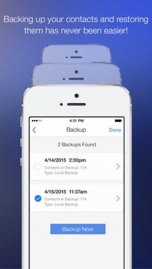 iPhone、iPadアプリ「CleanUp Suite – Quickly and easily clean duplicates from your address book」のスクリーンショット 3枚目