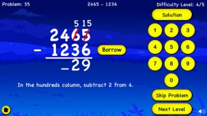 iPhone、iPadアプリ「Subtraction For Kids - Learn Basic First Grade Subtraction and With Regrouping For Second Grade」のスクリーンショット 3枚目