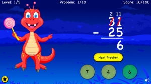 iPhone、iPadアプリ「Subtraction For Kids - Learn Basic First Grade Subtraction and With Regrouping For Second Grade」のスクリーンショット 4枚目