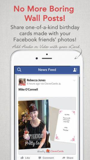 iPhone、iPadアプリ「CleverCards: Greeting Cards & eCards for Facebook」のスクリーンショット 3枚目