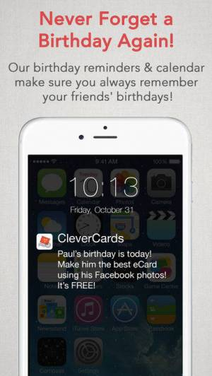 iPhone、iPadアプリ「CleverCards: Greeting Cards & eCards for Facebook」のスクリーンショット 4枚目