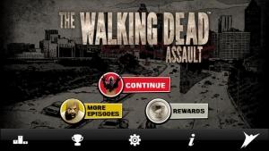 iPhone、iPadアプリ「The Walking Dead: Assault」のスクリーンショット 1枚目