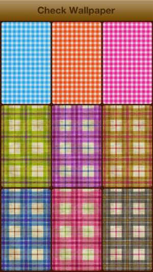 iPhone、iPadアプリ「可愛いチェックの壁紙 - かわいい待ち受けで楽しもう!」のスクリーンショット 4枚目
