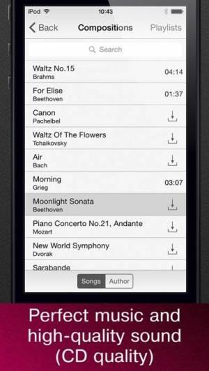 iPhone、iPadアプリ「無料でクラシック音楽の傑作」のスクリーンショット 2枚目