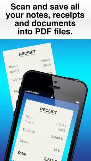 iPhone、iPadアプリ「Scanner Pro Edition」のスクリーンショット 1枚目