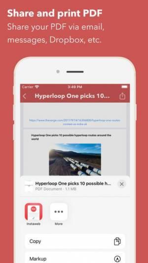 iPhone、iPadアプリ「Web to PDF Converter & Reader」のスクリーンショット 5枚目