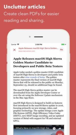 iPhone、iPadアプリ「Web to PDF Converter & Reader」のスクリーンショット 3枚目