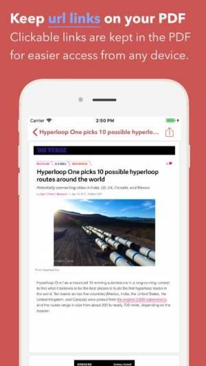 iPhone、iPadアプリ「Web to PDF Converter & Reader」のスクリーンショット 2枚目
