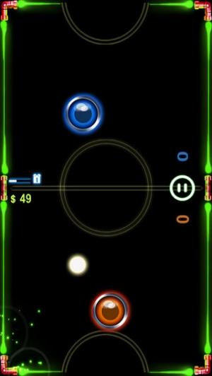 iPhone、iPadアプリ「AE エアホッケー」のスクリーンショット 1枚目