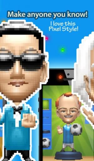 iPhone、iPadアプリ「Pixelheads - Pixel Portrait Bobble Head Avatar Maker by Bobbleshop」のスクリーンショット 2枚目