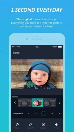 iPhone、iPadアプリ「1 Second Everyday: Video Diary」のスクリーンショット 2枚目