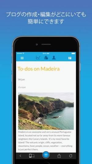 iPhone、iPadアプリ「Jimdo」のスクリーンショット 5枚目