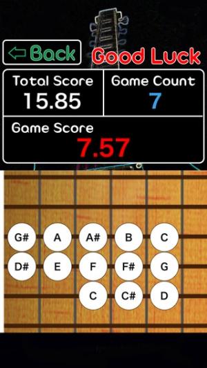 iPhone、iPadアプリ「ギター 絶対音感 早押し ゲーム - 音感レベルを採点、測定できます。カラオケで差をつけよう。」のスクリーンショット 1枚目