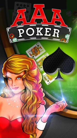 iPhone、iPadアプリ「AAA Poker (カジノ ポーカー 無料ゲーム) – Play The Best Deluxe Casino Card Game Live With Friends (VIP Joker Poker Series & More!) for iPhone」のスクリーンショット 1枚目