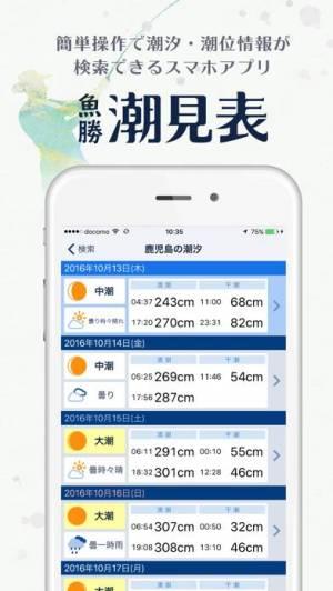 iPhone、iPadアプリ「魚勝 潮見表」のスクリーンショット 2枚目