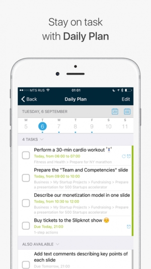 iPhone、iPadアプリ「Chaos Control - Tasks & GTD To-Do Lists」のスクリーンショット 4枚目