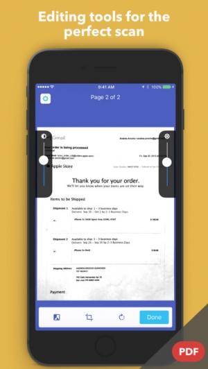 iPhone、iPadアプリ「JetScanner: Camera to PDF, scan image documents」のスクリーンショット 3枚目