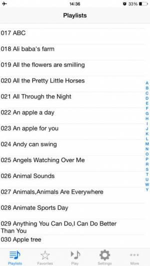 iPhone、iPadアプリ「英語で子供たちのお気に入り600曲」のスクリーンショット 3枚目
