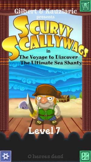 iPhone、iPadアプリ「Scurvy Scallywags」のスクリーンショット 1枚目