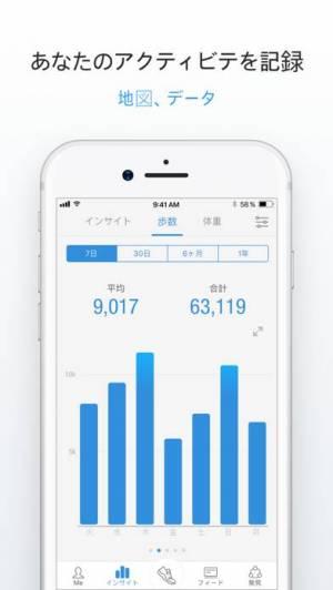 iPhone、iPadアプリ「Pacer-運動記録と健康ダイエット」のスクリーンショット 4枚目