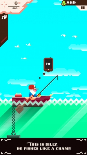iPhone、iPadアプリ「Ridiculous Fishing - A Tale of Redemption」のスクリーンショット 1枚目
