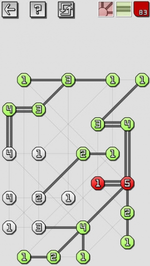 iPhone、iPadアプリ「橋をかけろ 究極の Puzzles」のスクリーンショット 2枚目