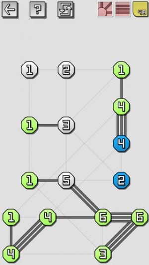iPhone、iPadアプリ「橋をかけろ 究極の Puzzles」のスクリーンショット 1枚目