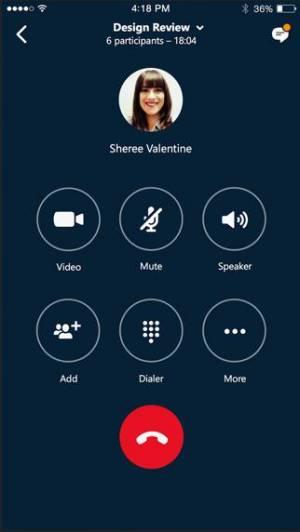iPhone、iPadアプリ「Skype for Business」のスクリーンショット 4枚目