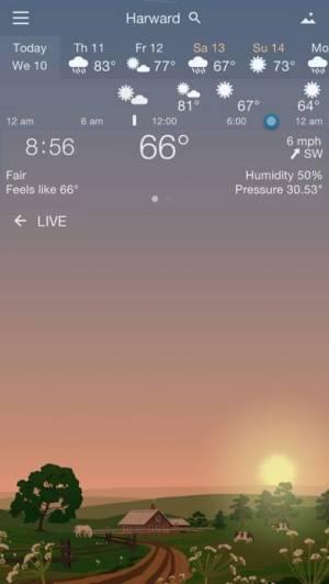 iPhone、iPadアプリ「YoWindow 天候」のスクリーンショット 2枚目