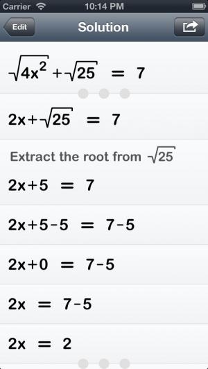 iPhone、iPadアプリ「Polynom MathSolver」のスクリーンショット 3枚目