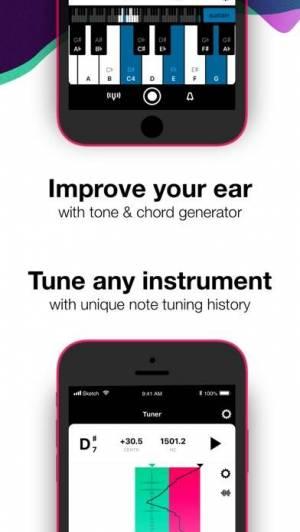 iPhone、iPadアプリ「Tunable: チューナー、メトロノーム、レコーダー」のスクリーンショット 4枚目