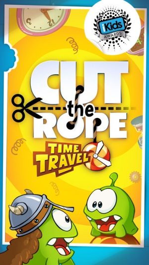 iPhone、iPadアプリ「Cut the Rope: Time Travel (カット・ザ・ロープ:タイムトラベル)」のスクリーンショット 1枚目