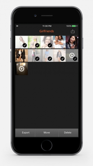iPhone、iPadアプリ「秘密の写真/映像金庫 PRO - 私的写真&映像管理アプリ」のスクリーンショット 4枚目