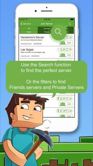 iPhone、iPadアプリ「Multiplayer for Minecraft PE」のスクリーンショット 5枚目