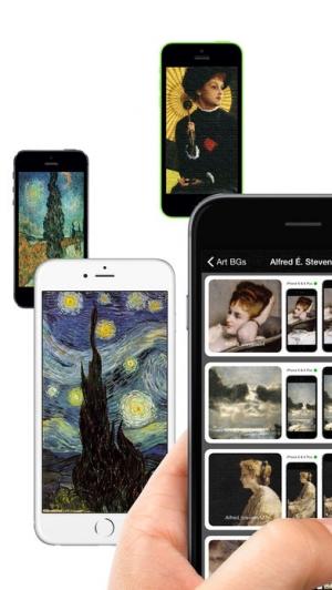 iPhone、iPadアプリ「ノートス アート(ART)の 壁紙」のスクリーンショット 1枚目