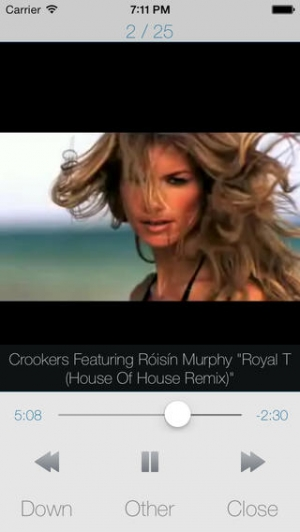 iPhone、iPadアプリ「UTuberPro - YouTube用の音楽連続再生プレーヤー」のスクリーンショット 1枚目