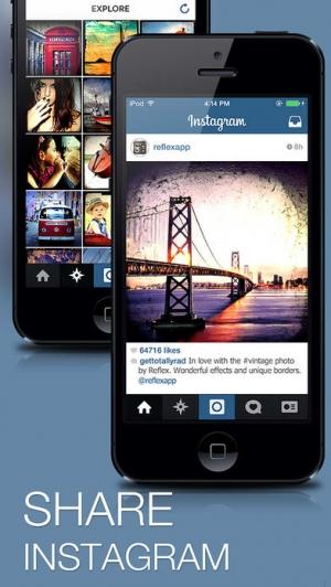 iPhone、iPadアプリ「Reflex - Vintage Camera Photo Edit for Instagram」のスクリーンショット 5枚目