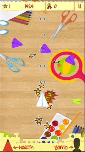 iPhone、iPadアプリ「Awesome Paper Planes Flyer」のスクリーンショット 1枚目