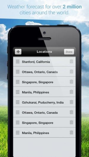 iPhone、iPadアプリ「Weather Cast - Live Forecasts」のスクリーンショット 5枚目
