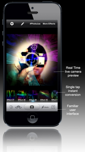 iPhone、iPadアプリ「PhotoJus Space FX - Lighting Effect Camera」のスクリーンショット 5枚目