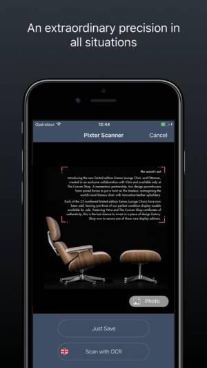 iPhone、iPadアプリ「Pixter Scanner翻訳付きドキュメントのOCR」のスクリーンショット 1枚目