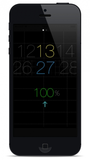 iPhone、iPadアプリ「ScrollClock」のスクリーンショット 1枚目