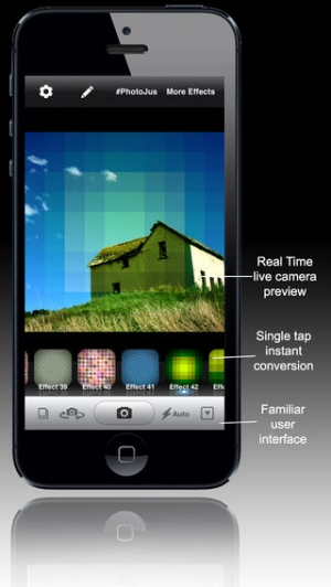 iPhone、iPadアプリ「Ace PhotoJus Pattern FX Pro - Pic Effect for Instagram」のスクリーンショット 2枚目