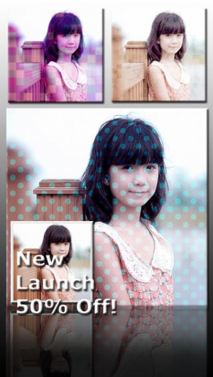 iPhone、iPadアプリ「Ace PhotoJus Pattern FX Pro - Pic Effect for Instagram」のスクリーンショット 1枚目