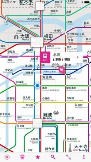 iPhone、iPadアプリ「大阪路線図 無料版」のスクリーンショット 1枚目