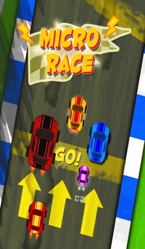 iPhone、iPadアプリ「A Sonic Speed Dash - Crazy Micro Speedway Race - Free Racing Game」のスクリーンショット 1枚目